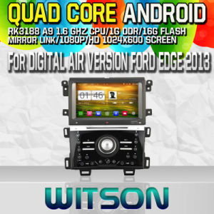 Witson S160 Car DVD GPS Player for Manual Air Version Ford Edge 2013 with Rk3188 Quad Core HD 1024X600 Screen 16GB Flash 1080P WiFi 3G Front DVR DVB-T (W2-M255) pictures & photos