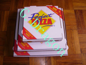 Locking Corners Pizza Box for Stability and Durability (CCB021) pictures & photos