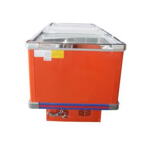 728L Sliding Door Flat Cabinet Island Freezer for Supermarket pictures & photos