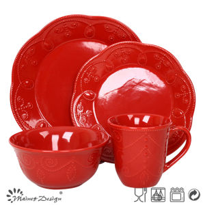 Special Shape Ceramic Red Color Dinner Set pictures & photos