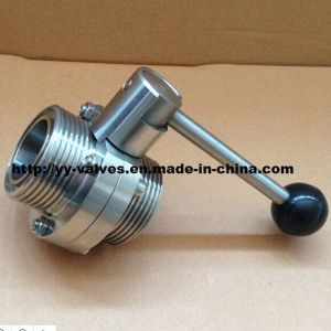 SMS Male/Male Butterfly Valve for Food Industry pictures & photos