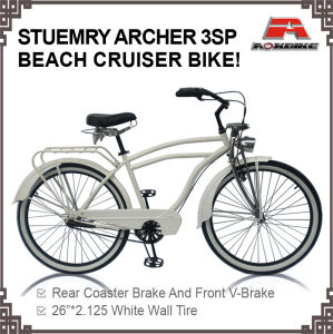 26 Sturmey Archer 3 Speed Beach Cruiser Bicycle (ARS-2651S-1) pictures & photos
