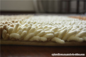 Cut or Loop Non-Slip Polyester Chenille Flooring Area Rug pictures & photos