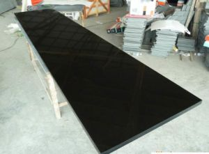 Chinese Absolute Black Granite Slab & Tile/Pure Black Granite/Shanxi Black Countertop for Decoration pictures & photos