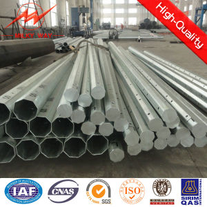 Octogonal 11.8m Galvanized Steel Tubular Pole with Cross Arm pictures & photos
