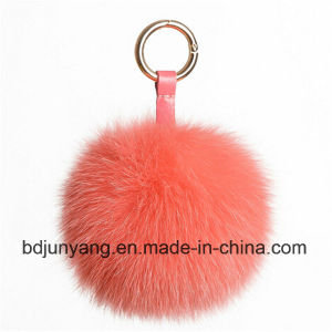 Christmas Fox Fur POM Poms Key Chain pictures & photos
