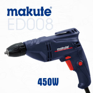Makute 450W 10mm Electric Hand Drill with Keyless Chuck (ED008) pictures & photos