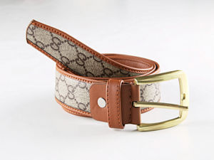 PU Leather and Webbing Needlepoint Belts