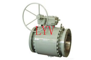 Forged Steel China Dn 500 Ball Valve with Worm Gear pictures & photos