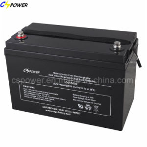 Ce Approval Gel Battery 12V100ah for Solar Guangzhou Suppliers Cg12-100 pictures & photos
