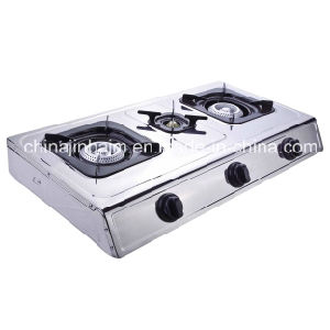 3 Burners Stainless Steel 710mm Length Honeycomb Steel Cap Gas Cooker/Gas Stove pictures & photos