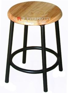 School Furniture Library Wooden Round Stool pictures & photos