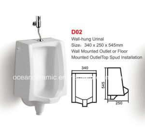 D02 Public Bathroom Sanitary Ware, Free Standing or Wall-Hung Urinal pictures & photos
