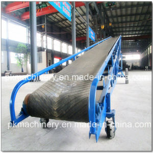 Sand Gravel Mobile Belt Conveyor with Hopper pictures & photos