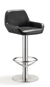 Foshan Armrest Stainless Steel High Back Bar Chair pictures & photos