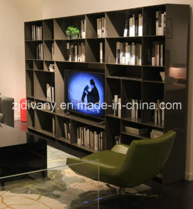 Modern Style High Glossy Painting Bookshelf (SM-TV06A) pictures & photos