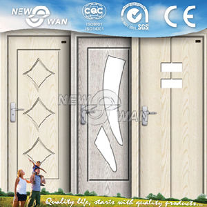 CIQ Soncap Approved Glass Panel Interior MDF PVC Door pictures & photos