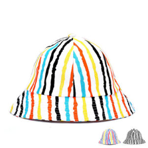 Fashion Colorful Striped Cotton Printed Bucket Hat (YKY3213) pictures & photos