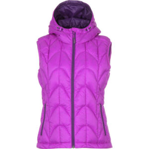 Women Slim Fluffy Hoody Down Vest pictures & photos