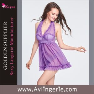 Women Ladies Sexy Underwear Set Lingerie (KLX1-006)