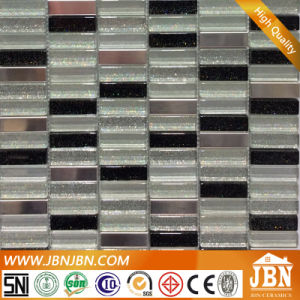 Basin Back Wall Stainless Steel and Sparkle Glass Mosaic (M858018) pictures & photos