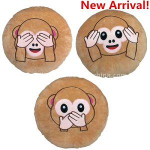 New American Popular Emoji Pillow Lovely Monkey Emoji embroidery Pillows pictures & photos