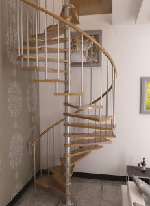 Stainless Steel Railing Steel Spiral Staircase pictures & photos