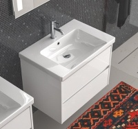 North America Modern Style PVC Bathroom Vanity with Ceramic Basin pictures & photos