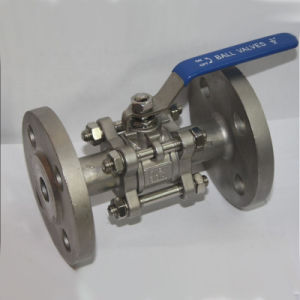 Stainless Steel 304/316 3PC Ball Valve with Flange pictures & photos