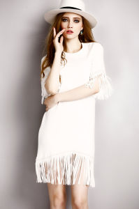 2015 New Arrival Fashion Summer Tassel Women Lady Dress pictures & photos