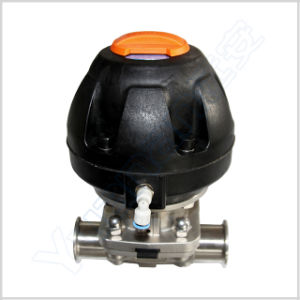 Sanitary Pneumatic Diaphragm Valve (Plastic cylinder) pictures & photos