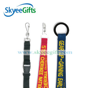 Promotional Navy Blue Blank Lanyard with Split Ring pictures & photos