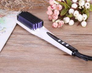 White LED Display and Ce/ETL Certification Hair Straightener Brush