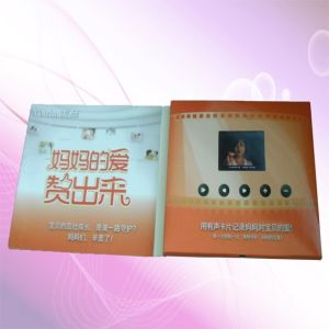 2.4 Inch TFT-LCD Brochure Card/LCD Greeting Card/Video Advertising Red Book pictures & photos
