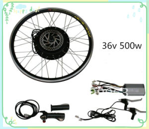 36V 500W 26′′ Wheel Kit Brushless Ebike Conversion LED Kit with Motor in Wheel pictures & photos