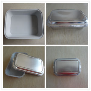 Disposable Coated Inflight Airline Foil Lunch Container pictures & photos
