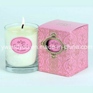 Scented Natural Soy Candle in Glass for Christmas pictures & photos