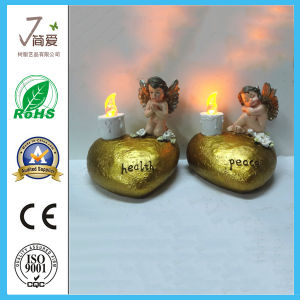 Polyresin Popular Colorful Angel Figurine with LED Light pictures & photos