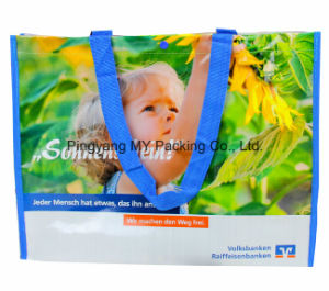 Professional Custom Colorful Eco Handled PP Woven Tote Shopping Bags pictures & photos