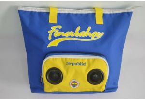 Polyster Tote Cooler Bag with Speaker