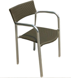 French Style Outdoor Aluminum Rattan Wicker Dining Chair (RC-06002) pictures & photos
