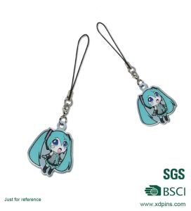Custom Cute Logo Metal Cell Phone Charm Strap pictures & photos