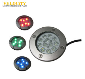Landscaping 12W/24W IP68 RGB High Quality Resin Enclosed LED Underwater Light