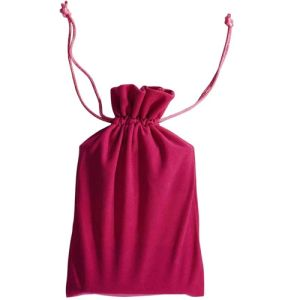 Drawstring Pink Velvet Pouch Jewelry Bag pictures & photos
