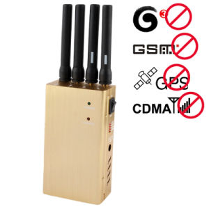 High Power Portable Mobile Phone and GPS Signal Jammer