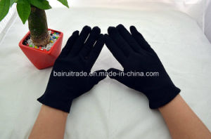 20g Black Cotton Gloves Driver Etiquette Rib Ribbed Gloves pictures & photos