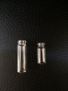 Mini Clear Tubular Screwed Glass Vial for Perfume Packing