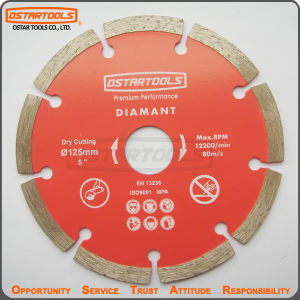 125mm Dry Diamond Segment Saw Blade for Marble, Granite, Concrete pictures & photos