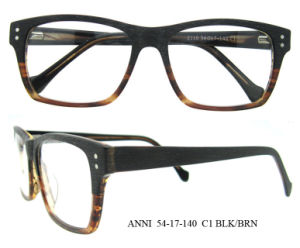 Popular Designer Optical Glasses Frames Full-Rim Flexible Hinges Wooden Eyeglasses pictures & photos