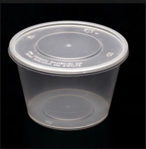 550ml Disposable Plastic Bowls with Cover Environmental Disposable Container pictures & photos